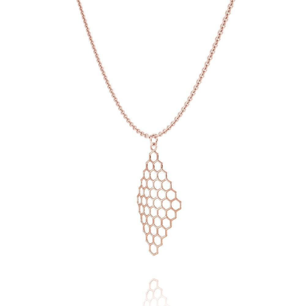The HIVE Necklace | VOGUE | 14k Rose Gold Sterling