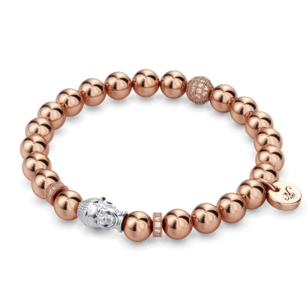 18k Rose Gold and Silver | Gilded Buddha Bracelet