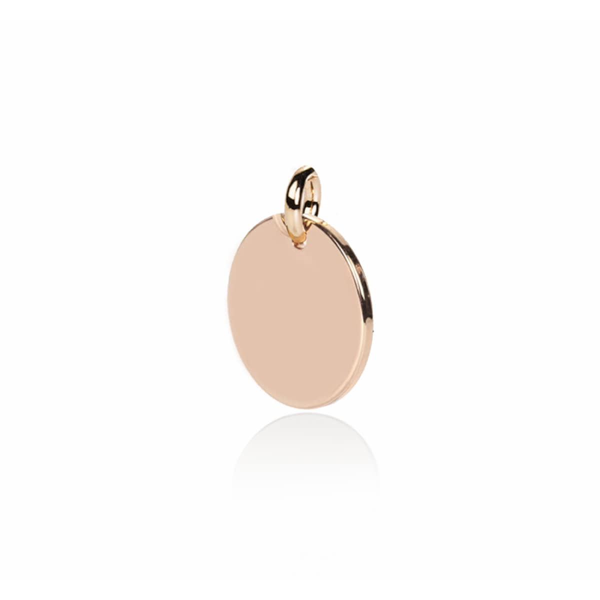 Engravable Decoration - 18k Rose Gold Circle Charm