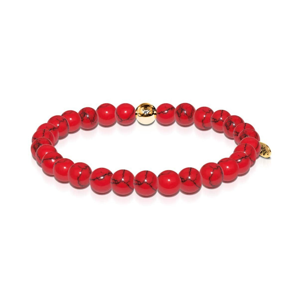 Protection | Gold Essence Red Turquoise Bracelet