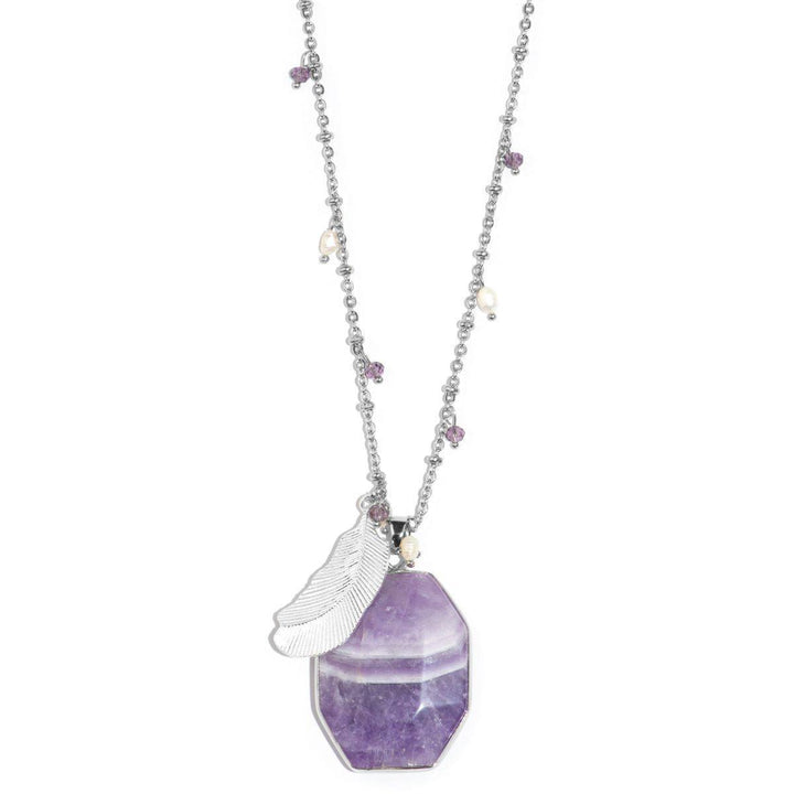 Violet Empress Purple Amethyst Stone Necklace
