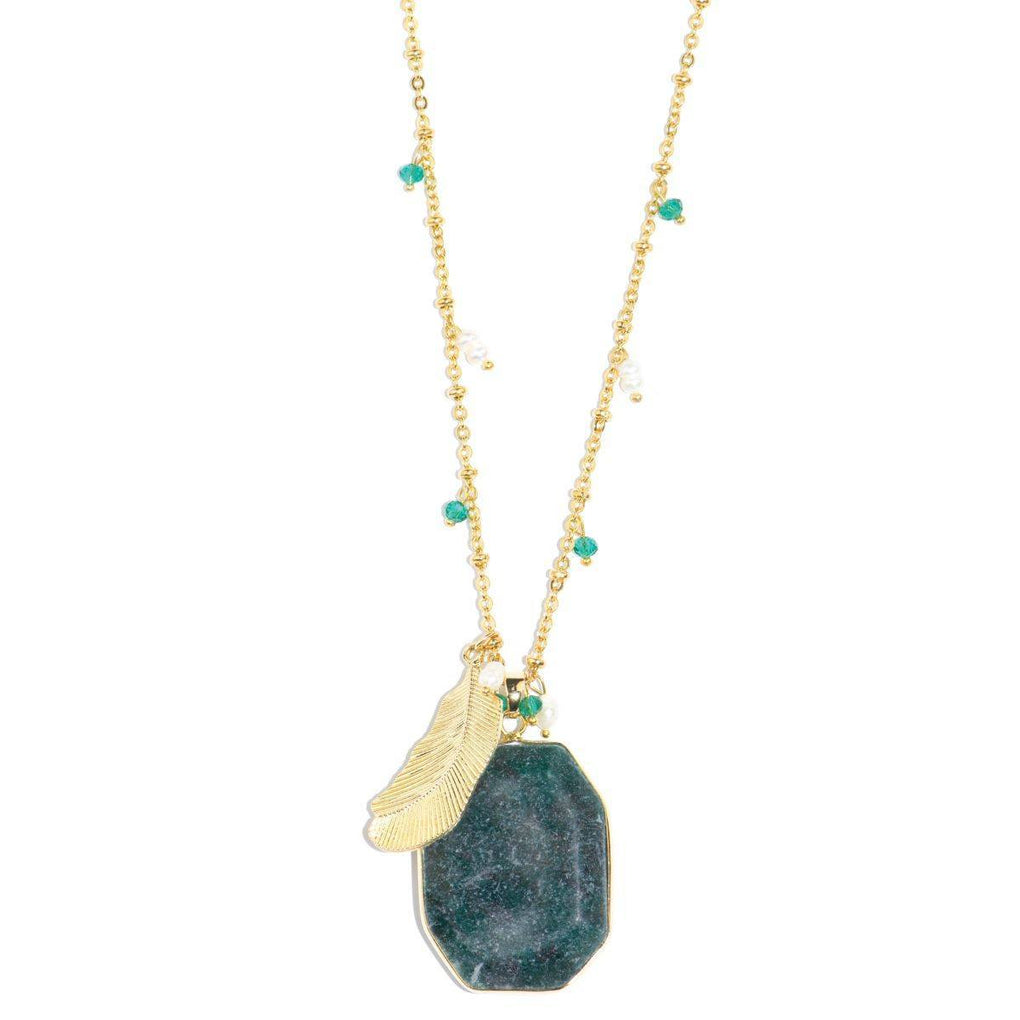 Eye of the Jungle African Green Jade Necklace