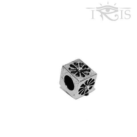 Hani - Silvertone Flower Box Silver Filled Charm from IRIS