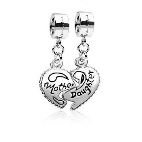 Mother and Daughters - Silvertone Mother Daughter Rhodium Filled Charms from IRIS