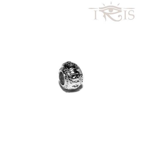 Amber - Silvertone Royal Procession Rhodium Filled Charm from IRIS