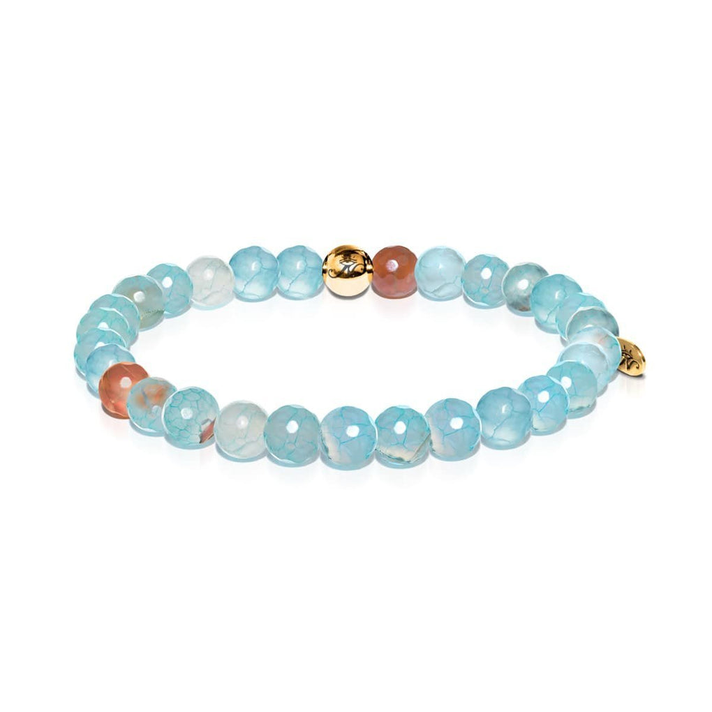 Trust | Gold Essence Blue Dragon Grain Agate Bracelet