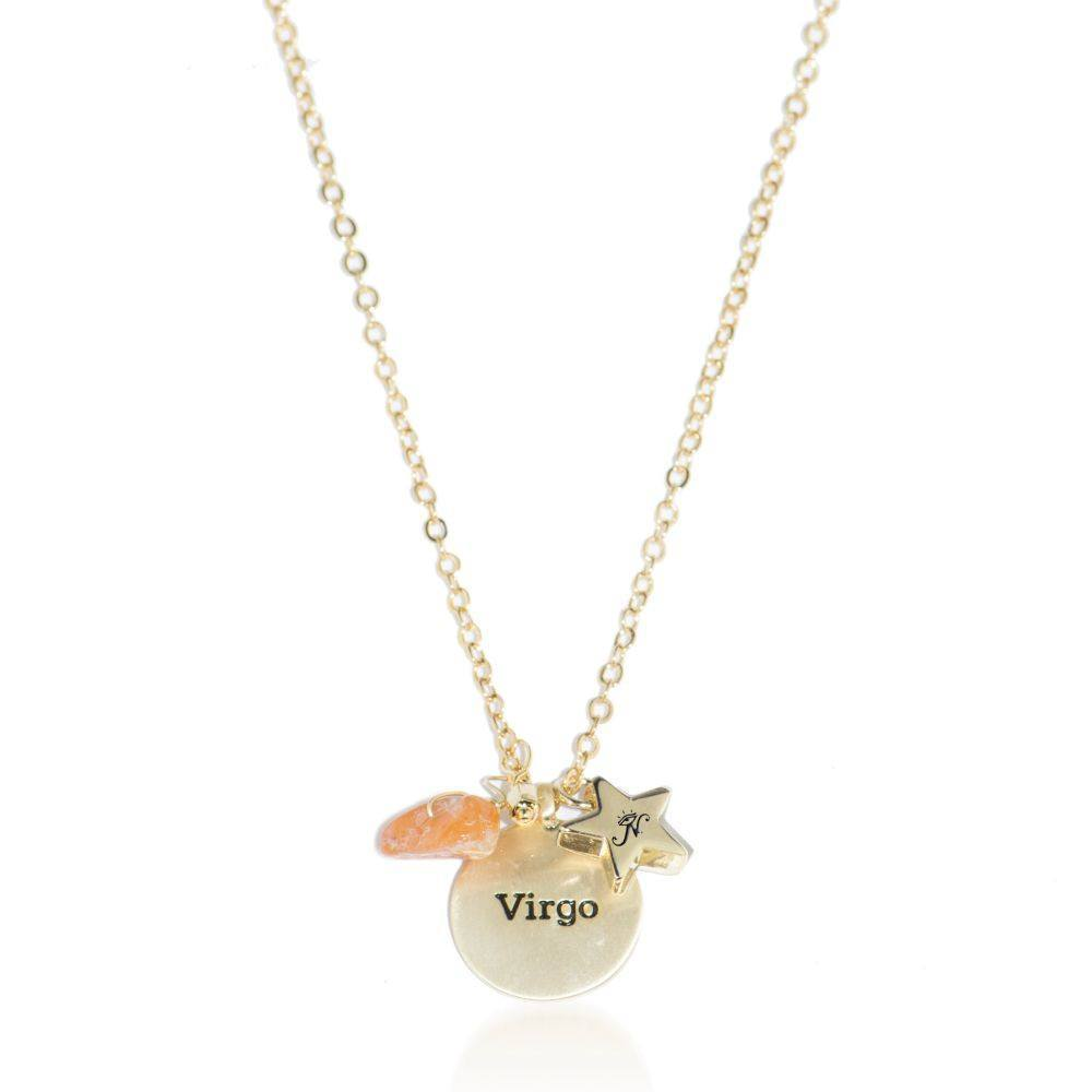 Virgo | Gold Zodiac Crystal Constellation Necklace