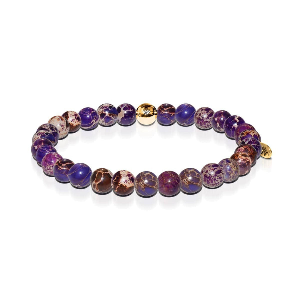 Wisdom | Gold Essence Purple Regalite Bracelet