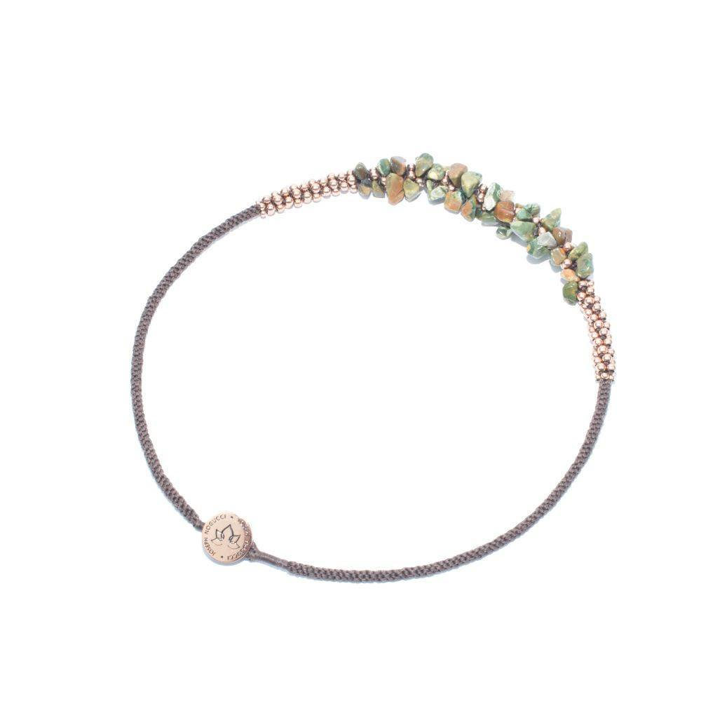 Woodland Agate & Rose Gold Terra Bella Necklace