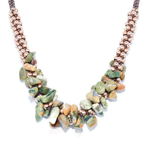 Woodland Agate Terra Bella Necklace