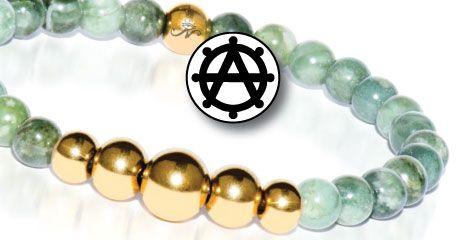 Gold and Silver Stone Aura Bracelets