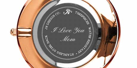 Personalized Engraved Watch with Monogram