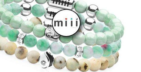 Miii MAGNETIC ENERGY STONE BRACELET STACKS