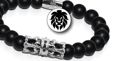 KINGDOM BRACELETS MEN'S BEADED CHARM BRACELETS