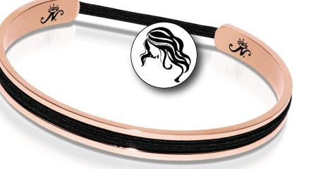 HAIR ELASTIC BANGLES GOLD & SILVER HAIR ELASTIC HOLDERS