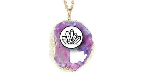 CRYSTAL CAVES NECKLACES DRUZY GEODE PENDANTS