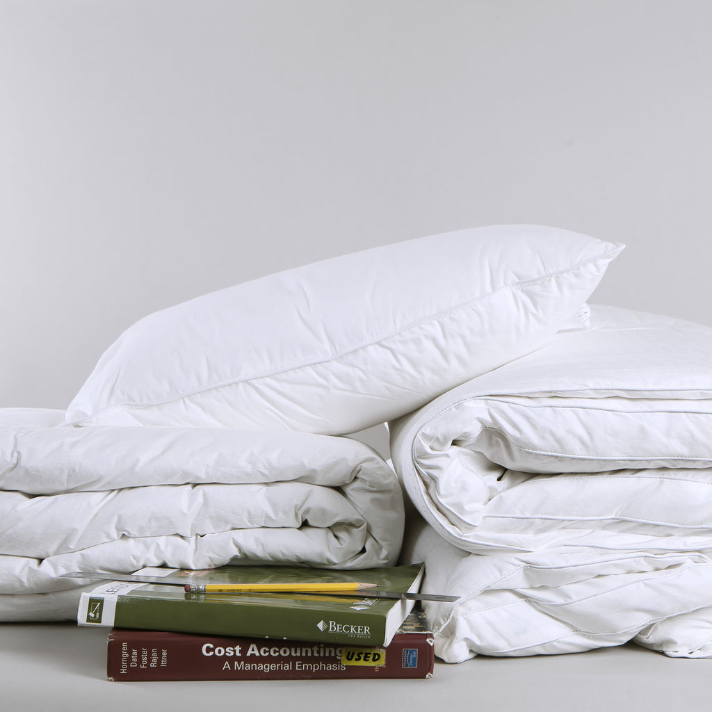 Down Filled Dorm Bedding Kit