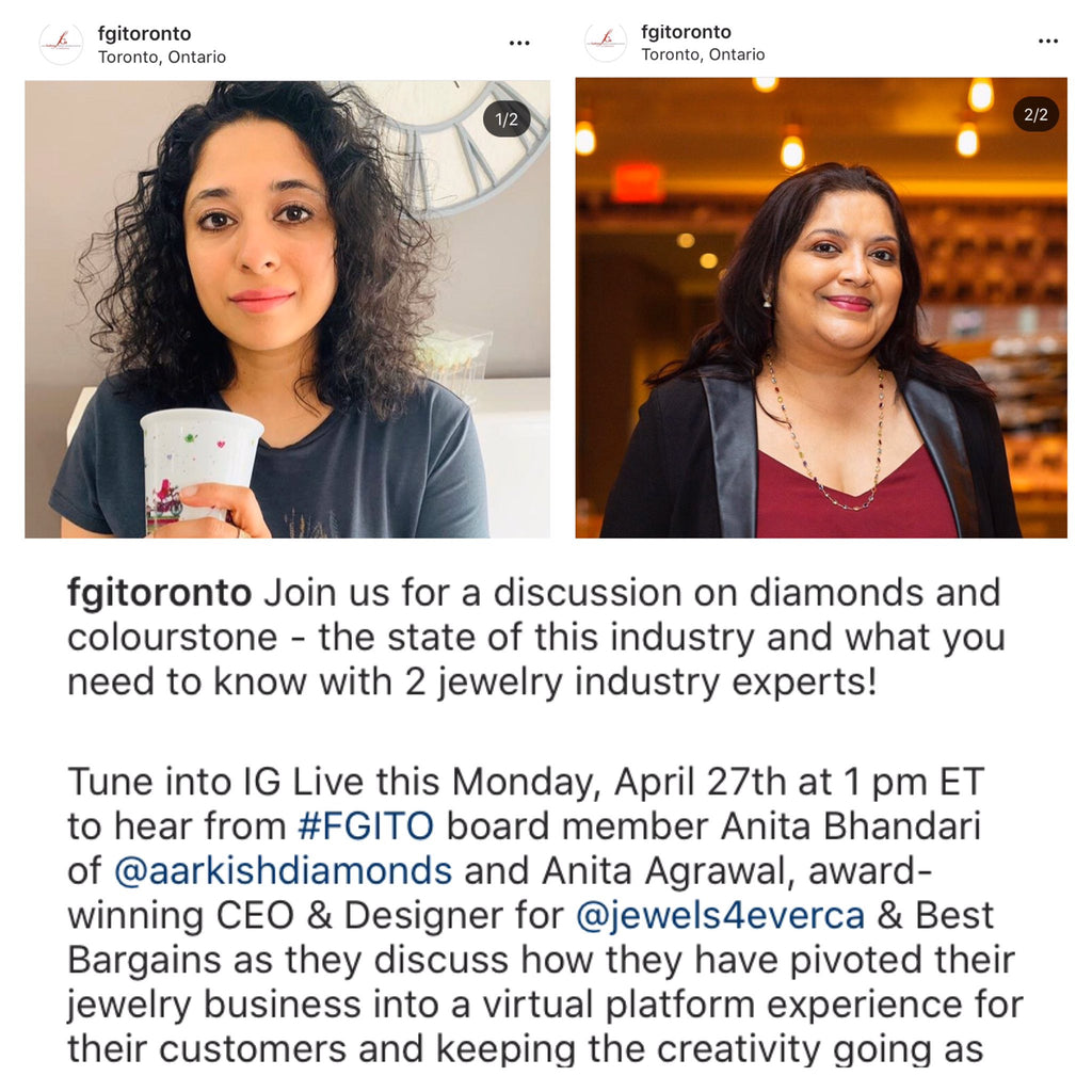 Best Bargains / Jewels 4 Ever CEO discusses Diamonds and Colourstones with FGI Toronto on IG Live!