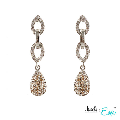 Jewels 4 Ever Women's CZ Fashion Jewelry Earrings