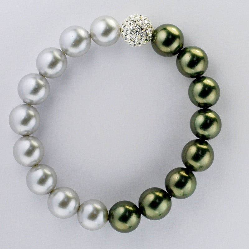 Swarovski Crystal and Shell Pearl Bracelet