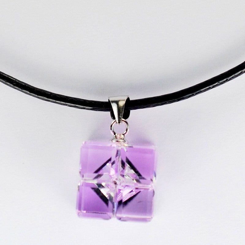 Sterling Silver and Pink Crystal Pendant