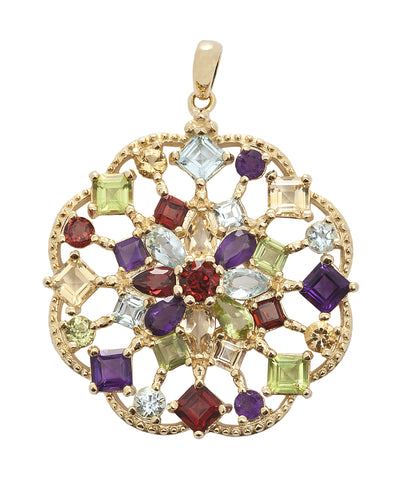 Multi-colour gemstone Pendant
