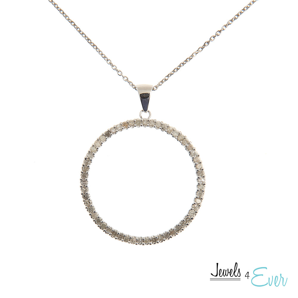 Sterling Silver & Diamond Circle of Life Pendant