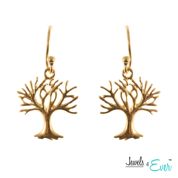 Sterling Silver Tree of Life Hanging Earrings