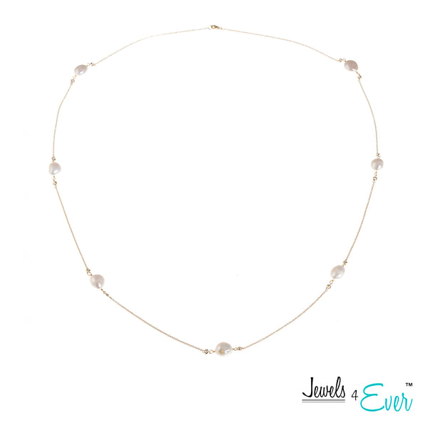 Jewels 4 Ever's Genuine Freshwater Pearls and Sterling Silver Necklace