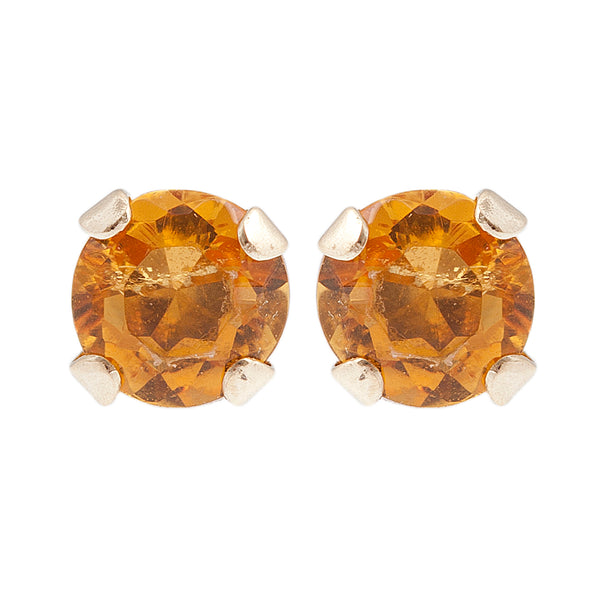 10K Yellow Gold 3 mm Genuine Gemstone Stud Earrings