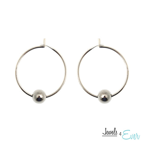 Vintage 9 mm Bali Hoop Earrings