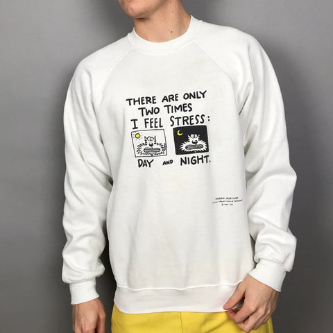 Men's casual printed crew neck sweatshirt