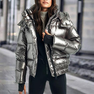 Fashion Hooded Bread Down Jacket