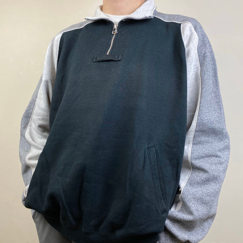 Men's Casual vintage zip sweatshirt