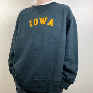 Men's Casual vintage alphabet crew neck sweater