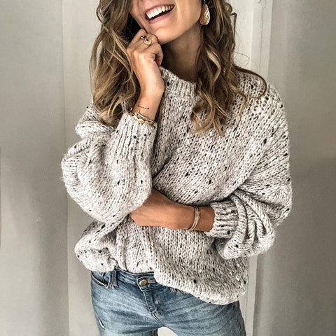 Brief Pure Colour Loose Sweater