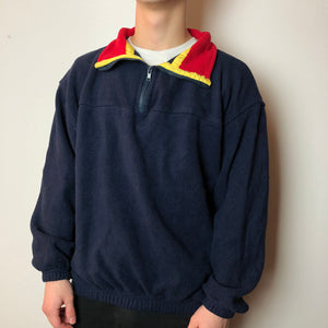 Men's Casual retro fleece sweater