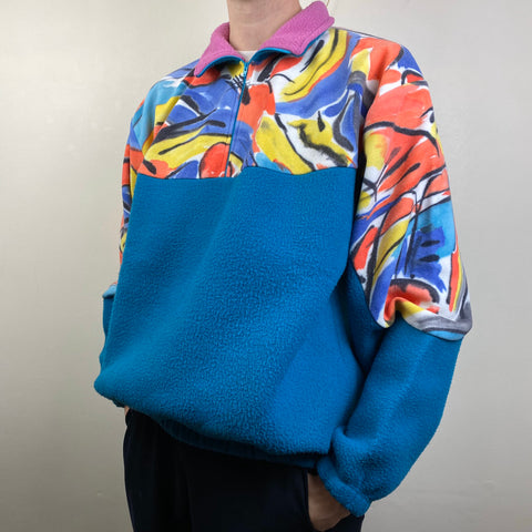 Men's Casual vintage printed sweatshirt