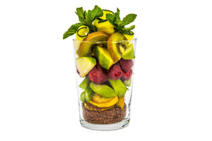 This full-flavoured weight loss smoothie recipe has a lovely bright green colour that will make you feel healthier by just looking at it!  Robust in fibre from the special combination of fresh kiwi, raspberry, apple and celery, this smoothie will rejuvenate your system by helping to naturally eliminate harder-to-digest foods.