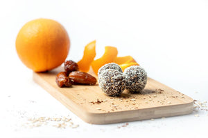 Our powerballs (five per order) are full of nutrients, made with superfoods, high in proteins, healthy carbs, fats and fibre.  It is a perfect way to give yourself a quick and sustained energy boost, making them an excellent, healthy on-the-go snack!  Our Coconut Cacao powerballs are perfectly balanced with sweet dates, rich cacao and sparkling orange peel.  Enjoy as a super delicious treat any time of the day.