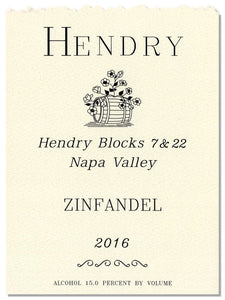 Hendry Ranch Blocks 7 & 22 Zinfandel 2016