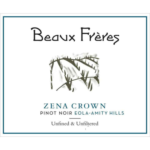 Beaux Freres 2016 Zena Crown Vineyard Pinot Noir