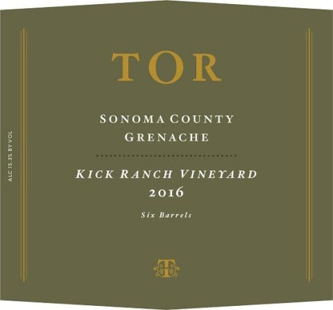 TOR 2016 Kick Ranch Vineyard Grenache