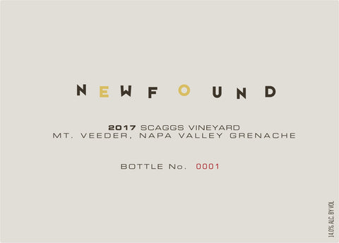 Newfound 2017 Scaggs Vineyard Grenache