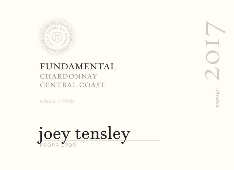 Joey Tensley Fundamental Chardonnay 2017