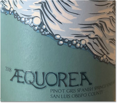 Aequorea 2019 Spanish Springs Vineyard Pinot Gris