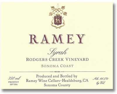 Ramey 2014 Rodger's Creek Syrah