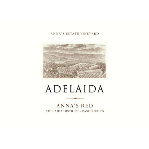 Adelaida 2015 Anna's Red