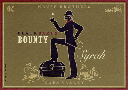Krupp Brothers 2017 Black Bart's Bounty Syrah