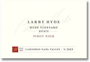 Hyde Estate 2015 Larry Hyde Pinot Noir